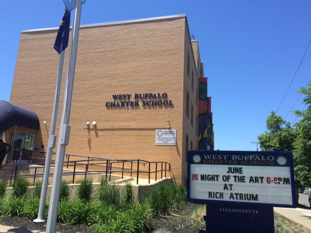 Outside the West Buffalo Charter School
