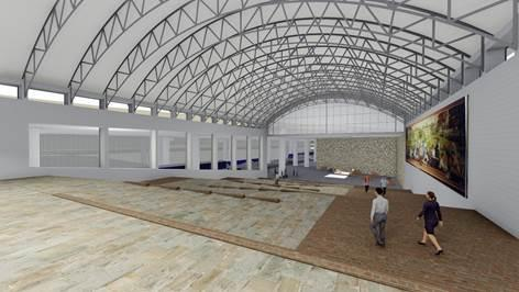 Tim Tielman says a new noise-dampening ceiling will transform the space now used by Amtrak.