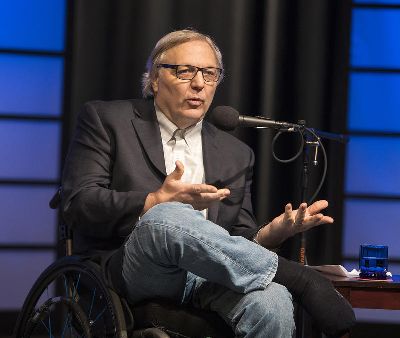 John Hockenberry of The Takeaway hosted a panel discussion in the WNED|WBFO studios on Tuesday night.