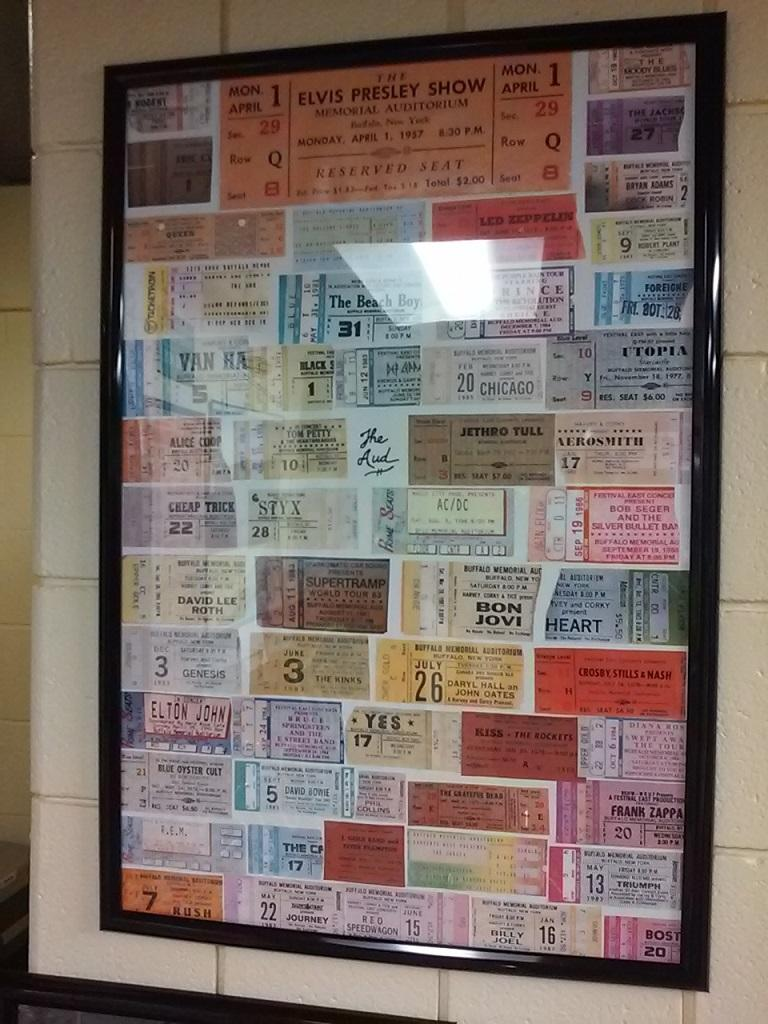 A who's-who of pop and rock acts can be seen among the ticket stubs framed and displayed in Coca Cola Field's tribute to the Aud.