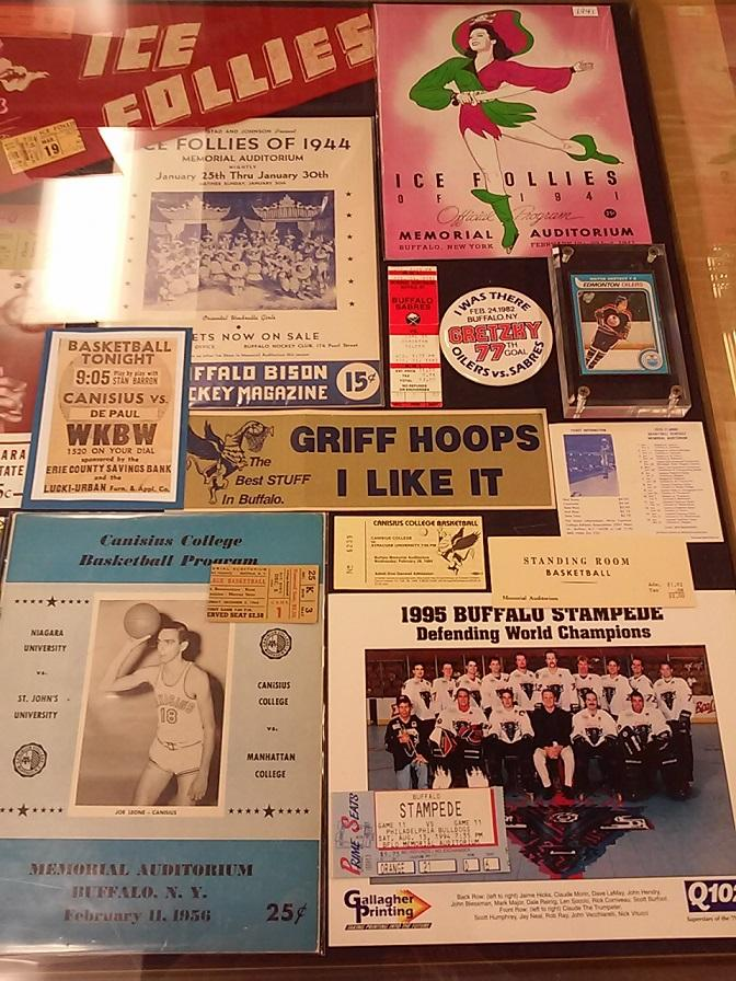 More relics from Memorial Auditorium's numerous and various events, from local college basketball to the Ice Follies to a championship run by a short-lived pro roller hockey team.