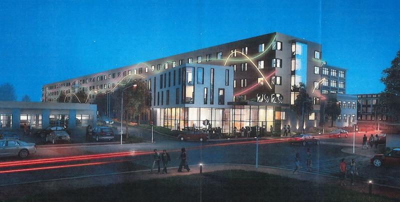 Rendering of the proposed plan for 2929 Main Street.
