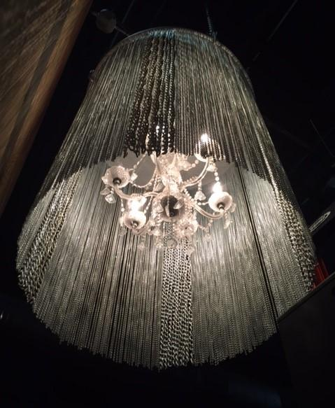 Guagliardo estimates this chandelier weighs at least 500 pounds.