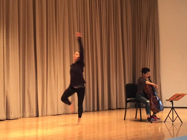 Lehrer Dancer on stage at the Albright-Knox.