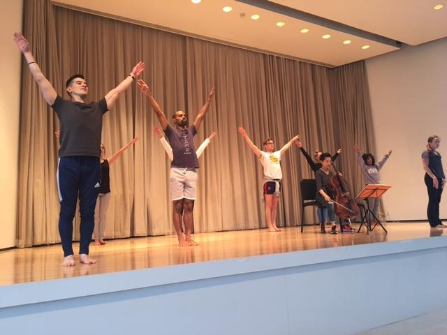 Lehrer Dancers on stage at the Albright-Knox.