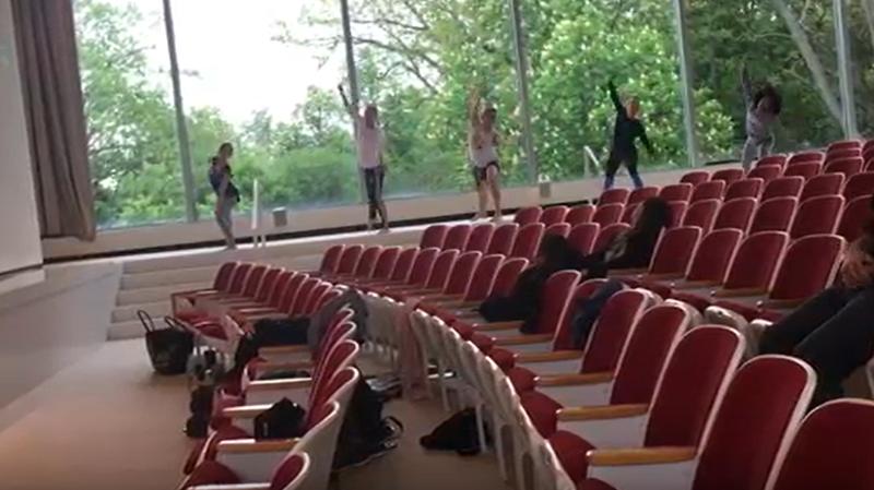 Lehrer Dancers at the Albright-Knox.