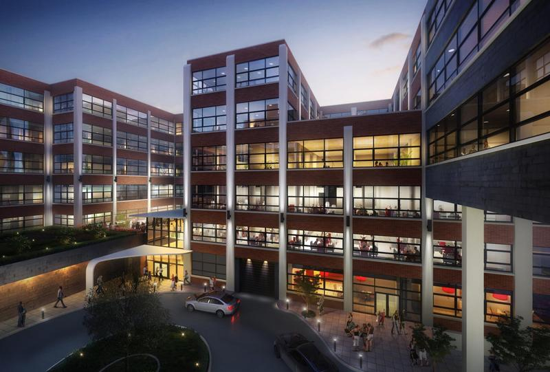 An artist rendering of the renovated Trico building