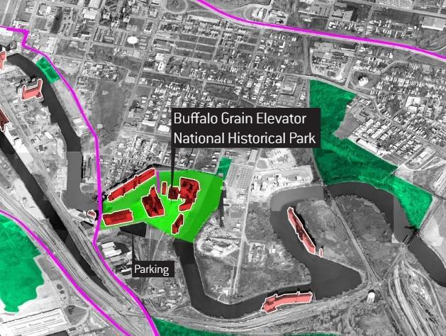 Buffalos Grain Elevators As A National Park The Idea Is Being - Us grain elevator map