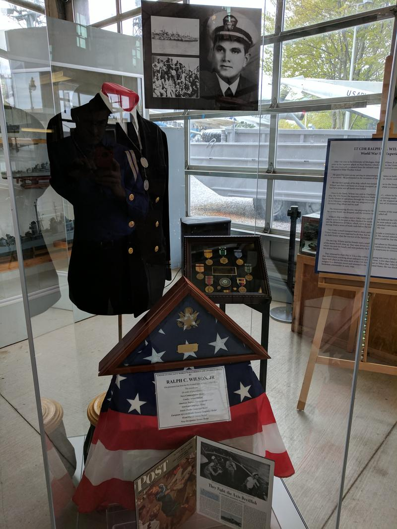 LCDR Ralph C. Wilson, Jr.'s military effects will be on display at the Buffalo & Erie County Military & Naval Park