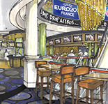A rendering of the casino's new entry bar.