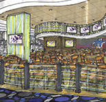 A rendering of the casino's new dining area.