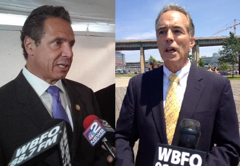 Gov. Andrew Cuomo (left) is taking on Republicans like Congressman Chris Collins up for election.