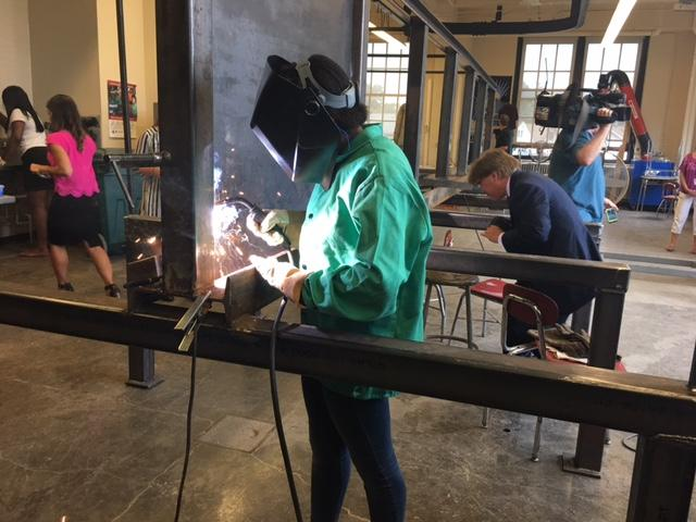 Burgard junior Mariah Shelton is very interested in becoming a future welder.