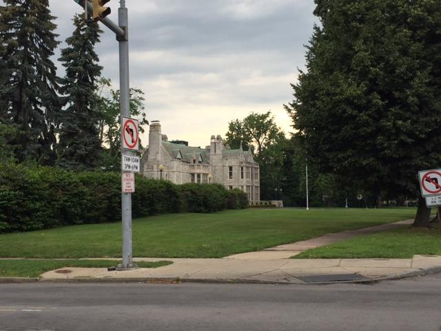 The Red Cross mansion is located at Delaware and Summer in Buffalo.