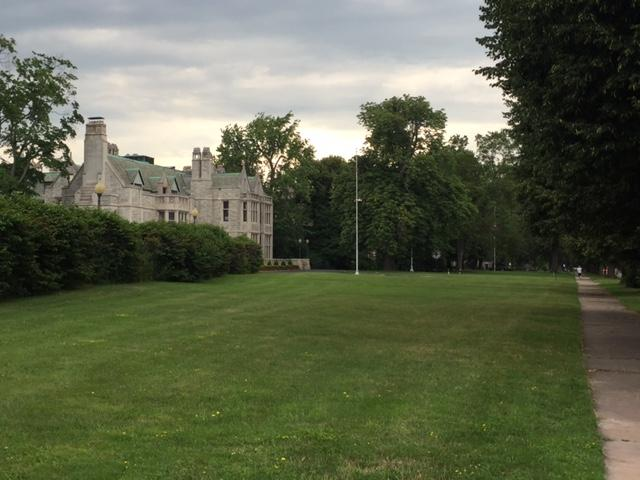 The Red Cross mansion currently has an expansive lawn.