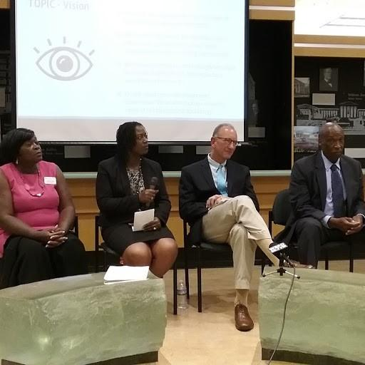 (left to right) Mayoral candidates Betty Jean Grant, Taniqua Simmons, Mark Schroeder, Terry Robinson