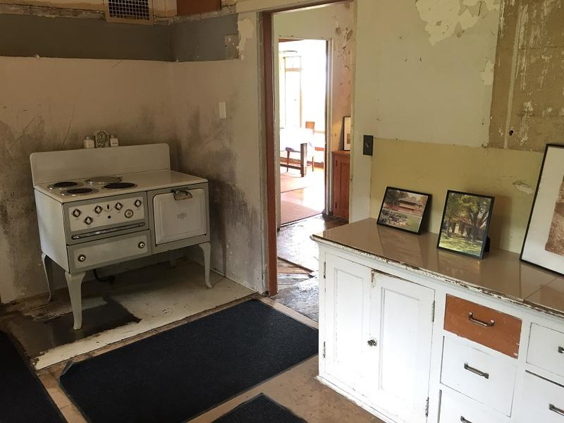 The kitchen inside Graycliff Estate, which includes a vintage stove and oven.