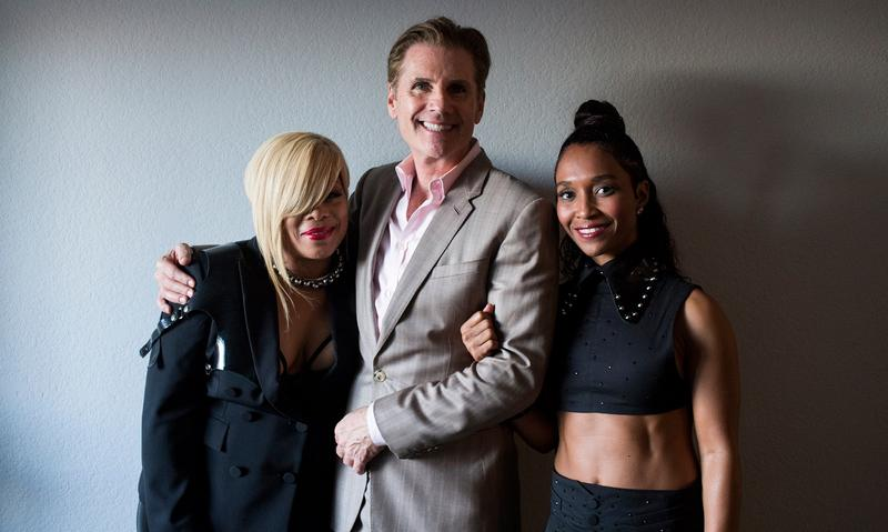 (From left)Tionne 'T-Boz' Watkins, Bill Diggins, and Rozanda 'Chilli' Thomas at Dancing with the Stars