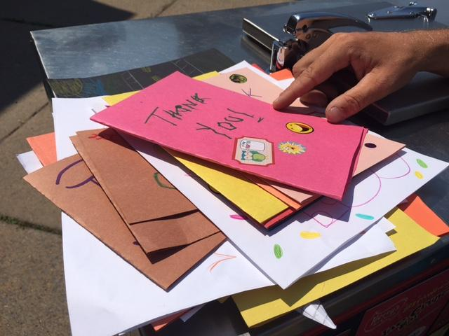 Thank you notes to the Ice Cream Dude from his Lackawanna visit.