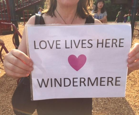 School and community members came out to support Windermere's diverse population.