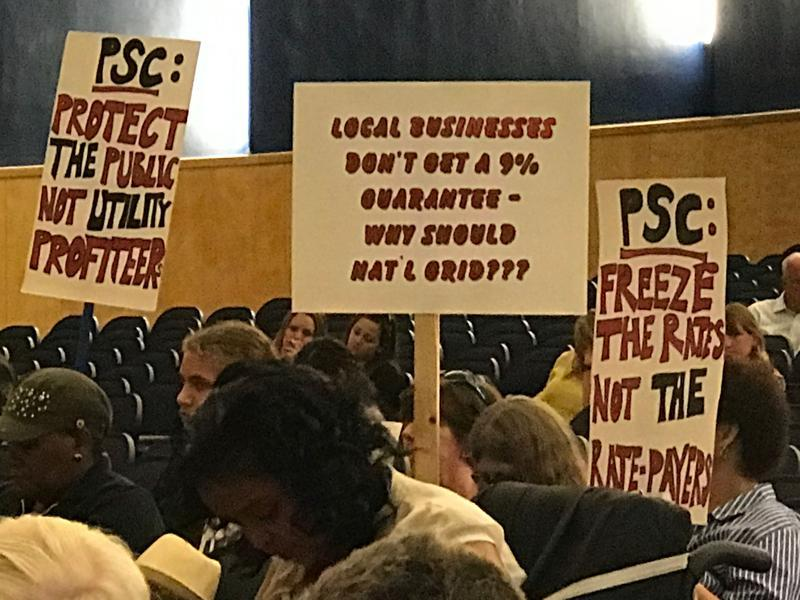Most who turned out for a public hearing in Syracuse Monday were against the proposed National Grid rate hike.