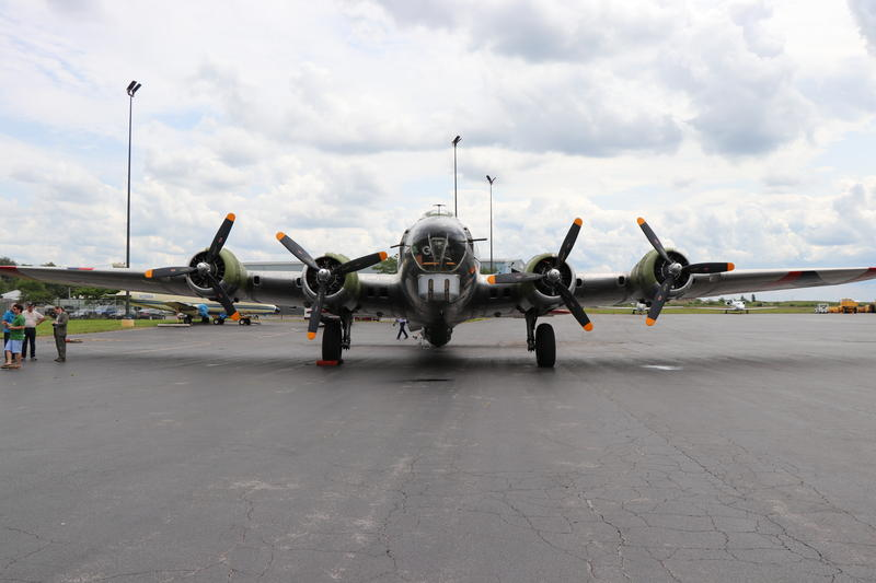 "The Madras Maiden, a restored WWII-era B-17 ""Flying Fortress"""