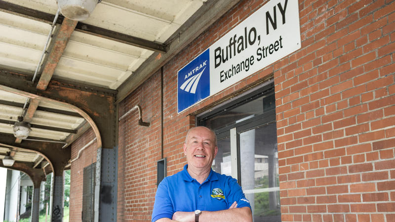 Arrival to the Buffalo Amtrak station