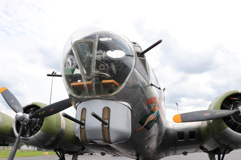 "The clear nose of the B-17 ""Flying Fortress"""