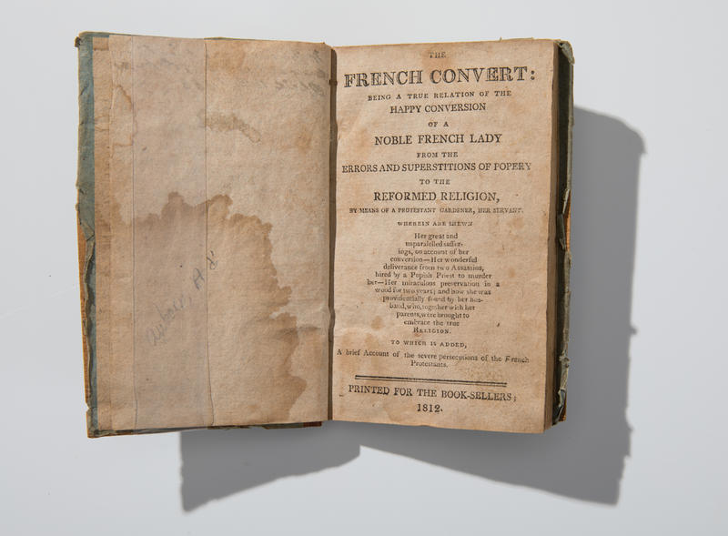 One of the oldest volumes included in a collection recently acquired by the University at Buffalo. This title was printed in 1812.