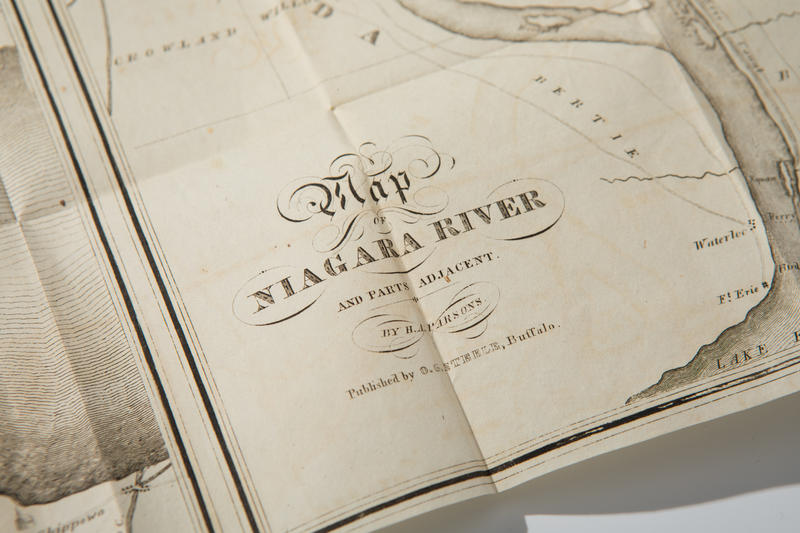A closer look at a map included with an early 1800s Niagara Falls tour book.