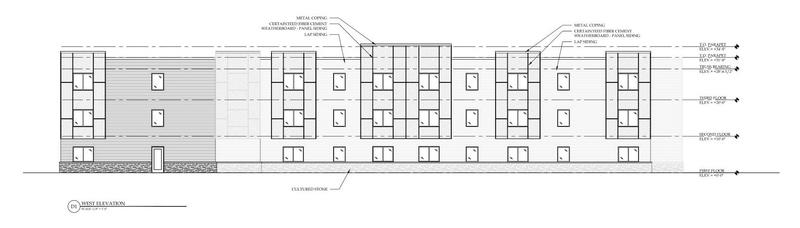 Rendering of new housing presented to Buffalo Planning Board