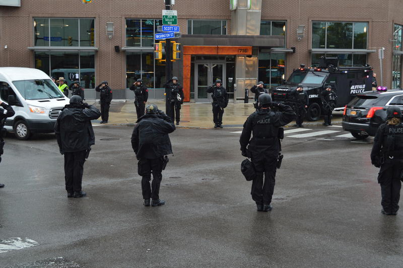 Members of several law enforcement divisions came out in large numbers to honor Lehner