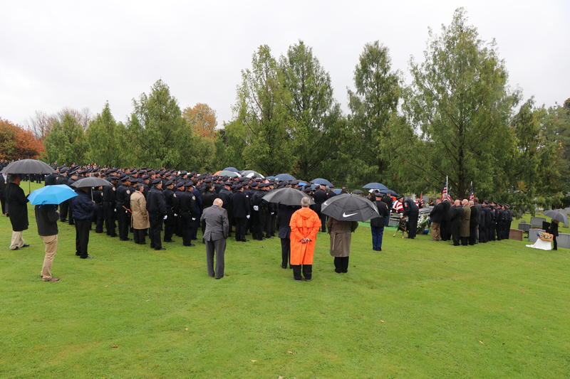 There was no shortage of mourners as final words were given in Craig Lehner's honor