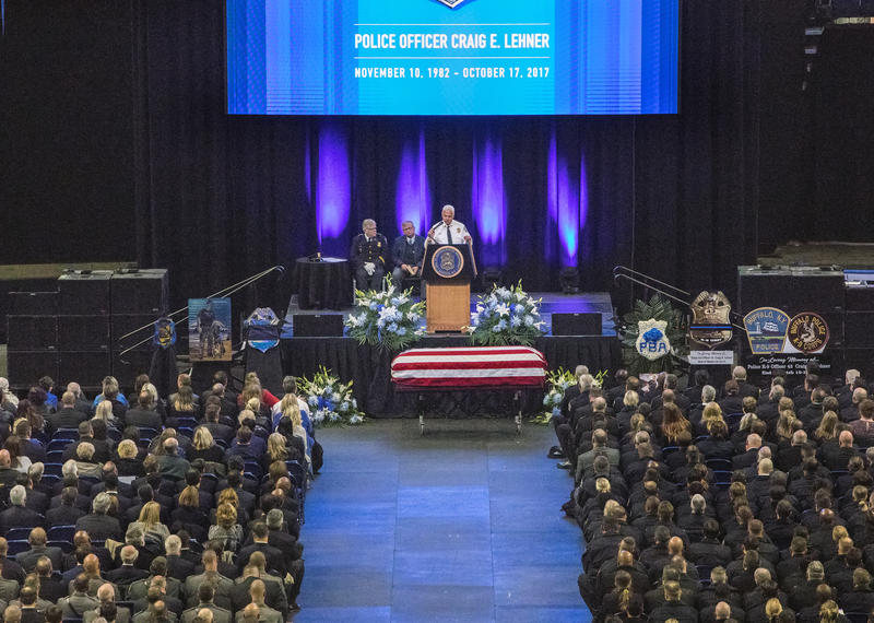 Several speakers paid tribute to the late officer