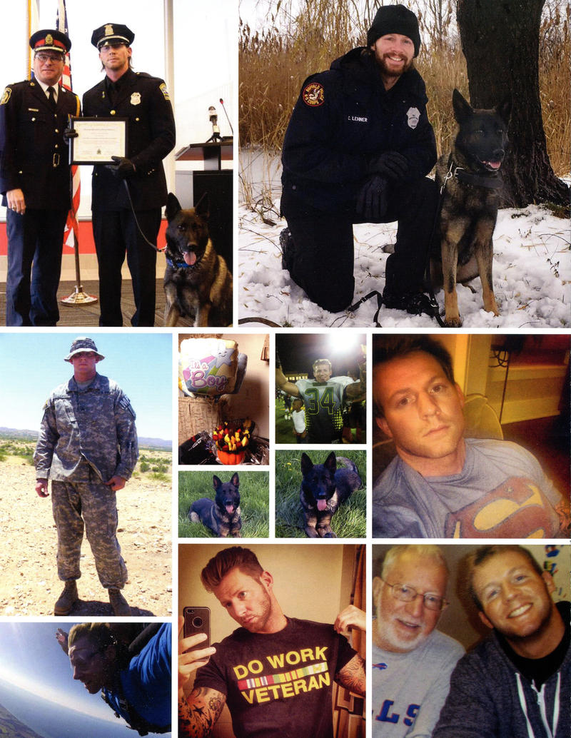 A photo collage fo Craig Lehner from the funeral program.