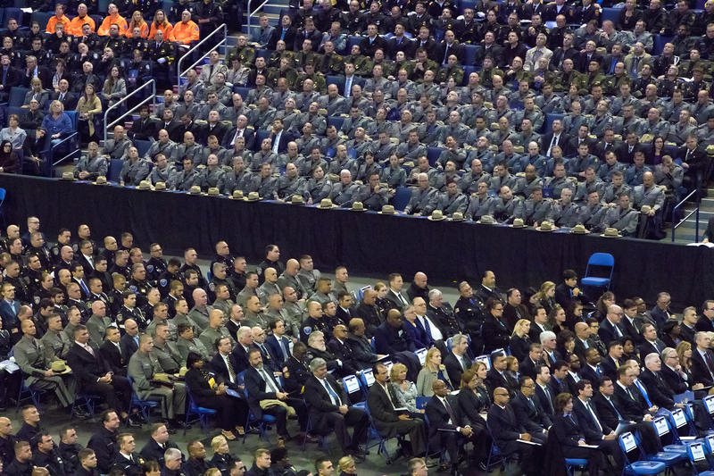 Representatives from a number of law enforcement agencies attended the service