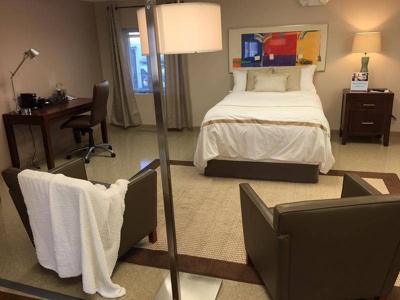 A mock-up of a hotel room, in which clients of the Jefferson Career Center may learn maintenance and hospitality service. The Jefferson Career Center, operated by Community Services for the Developmentally Disabled, was officially opened Monday.