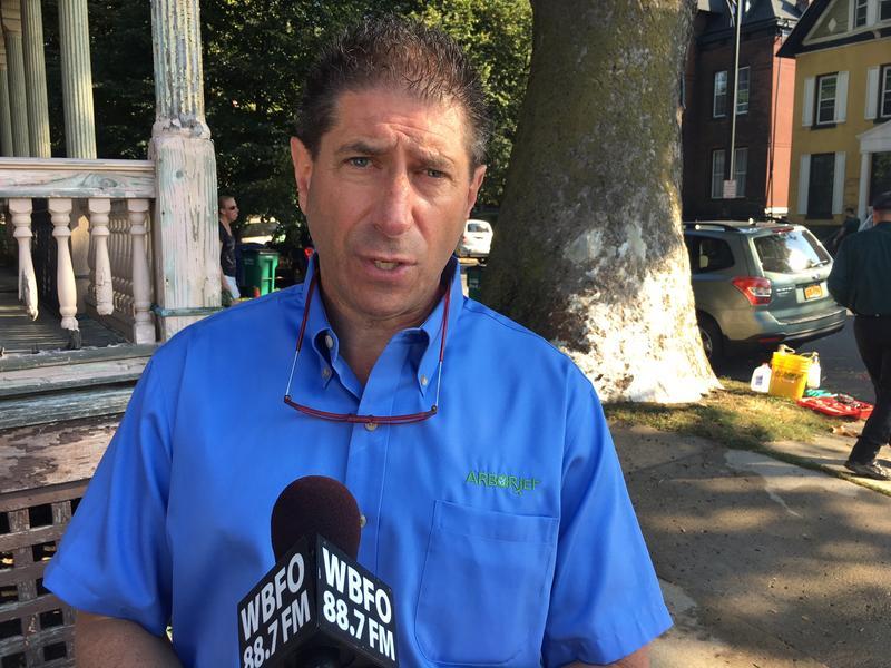 Arborjet's Rob Gorden oversaw the treatment