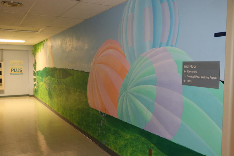 Murals decorate many of the walls in Women & Children's Hospital.