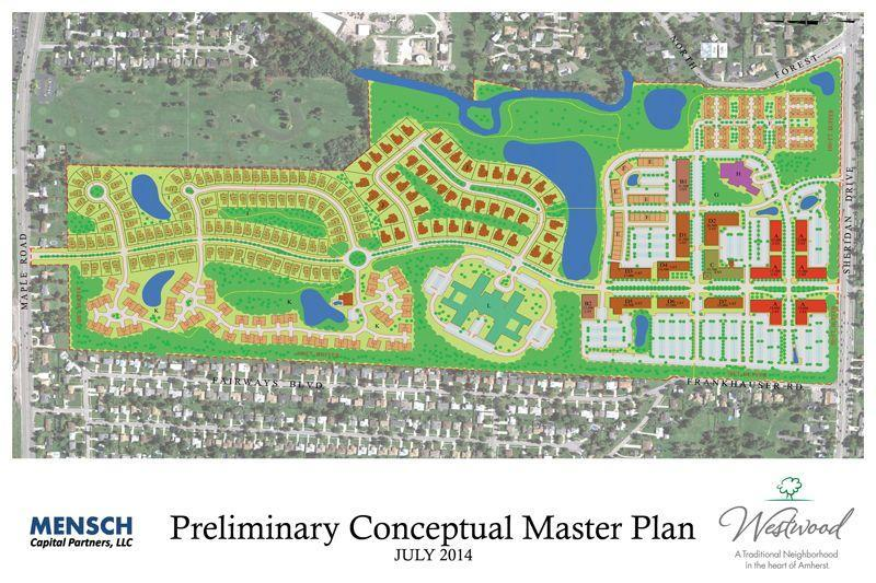 Conceptual plan for the former Westwood Country Club site