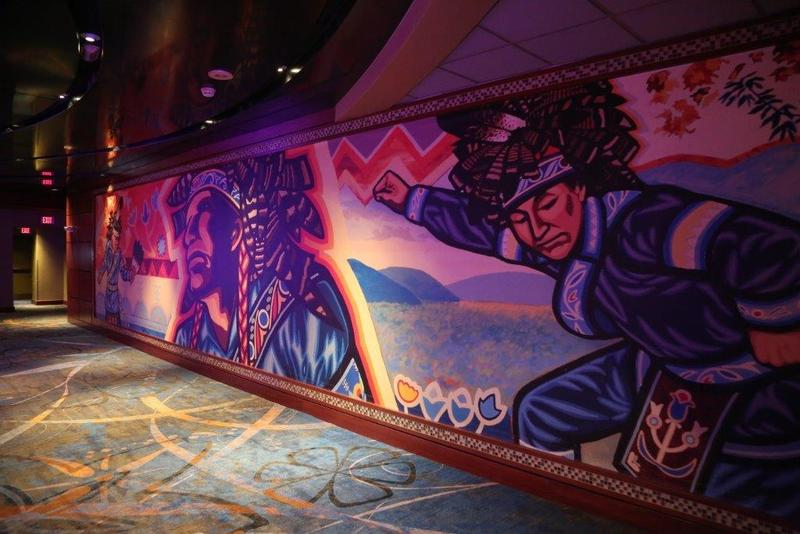 A Carson Waterman artwork at the Seneca Allegany Casino