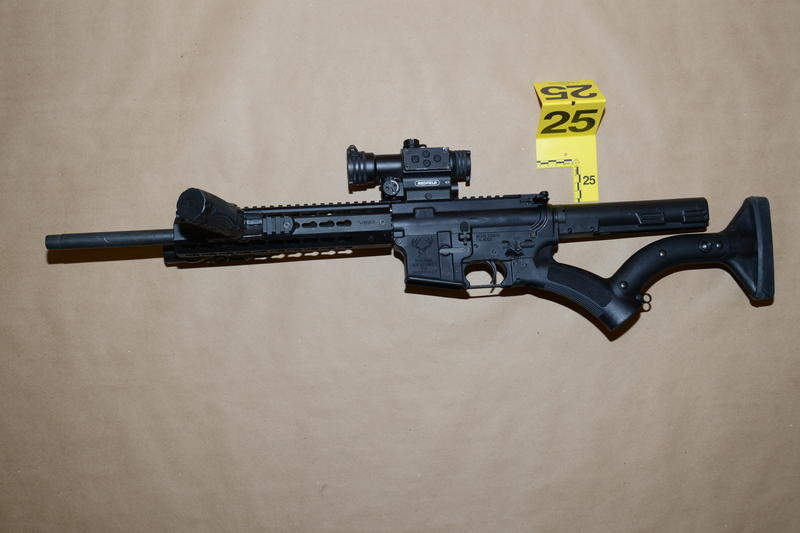 One of the two AR-15 rifles recovered by Town of Cheektowaga Police.