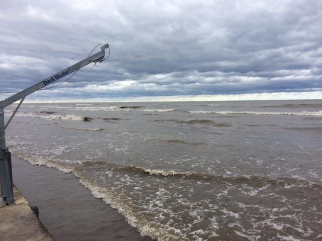 Beach along Lake Ontario has been underwater for months.