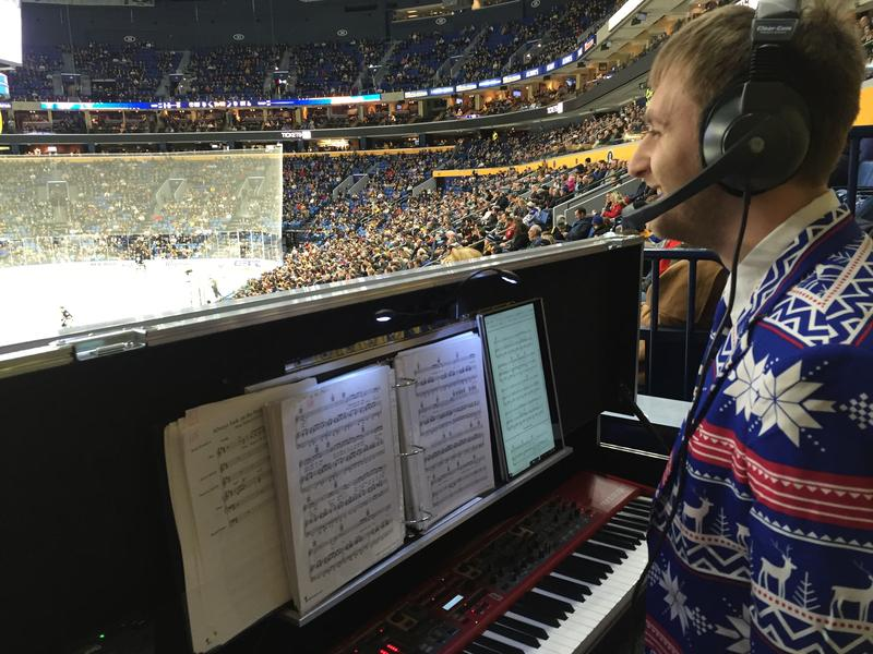 Buffalo Sabres organist Curtis Cook