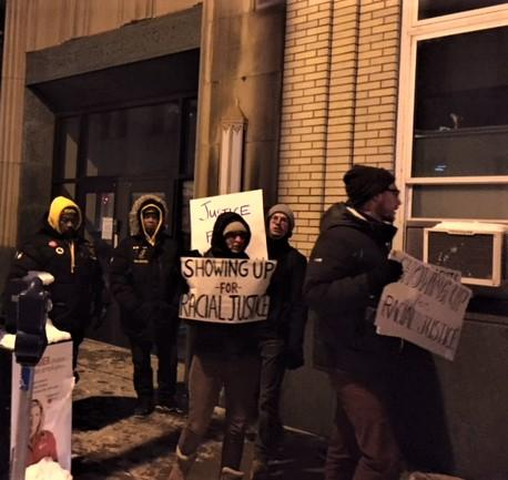 Protestors marched at Buffalo Police headquarters for about an hour after the state Attorney General's reports was made public.