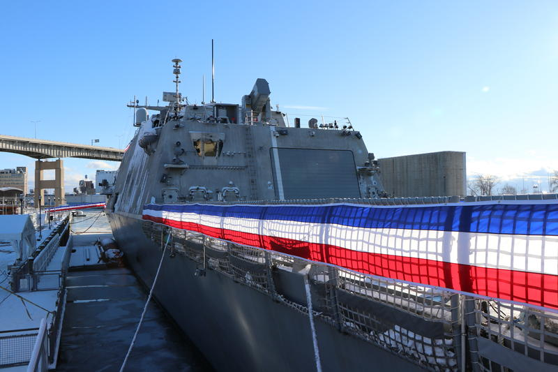The new USS Little Rock, docked at Canalside in Buffalo.