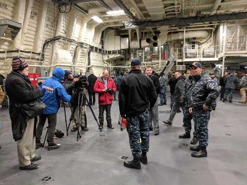 Inside the the new USS Little Rock.