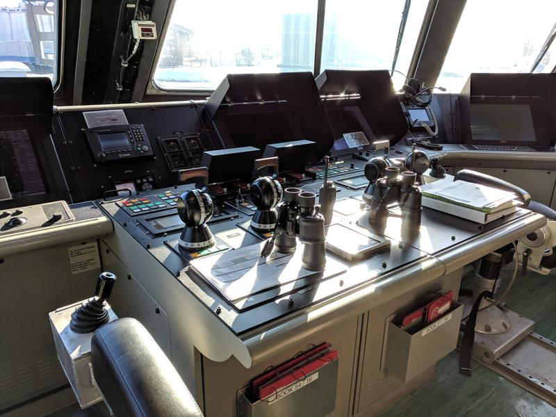 Computers, joysticks, and throttles are part of how the new USS Little Rock is driven.