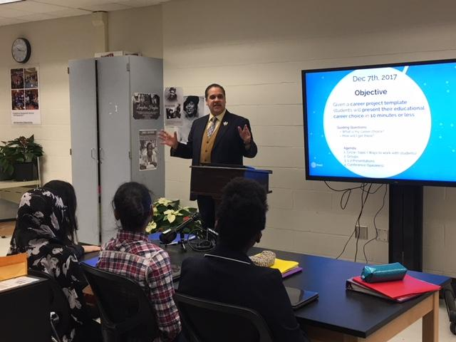 Buffalo Superintendent Cash addresses students at Urban Teachers Acadmey