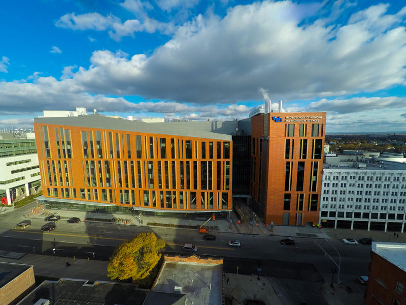 The new home of the Jacobs School of Medicine and Biomedical Sciences at the University at Buffalo.